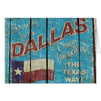 Carte de voeux vintage du Texas - de Dallas