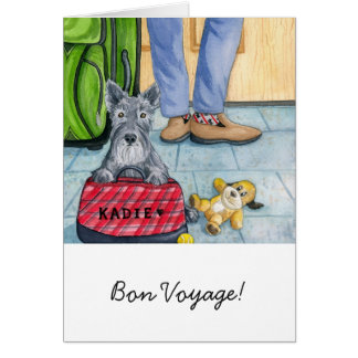 Carte de voeux w/envelope - voyage de fève !