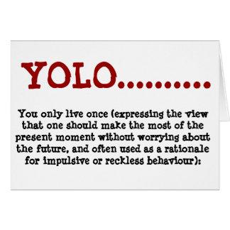 Carte de voeux YOLO….définition