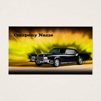 Carte de voiture noire classique de thème de Mafia