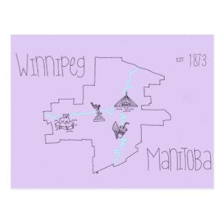 Carte de Winnipeg Cartes Postales