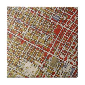 Carte de WPA de Los Angeles centrale Carreau