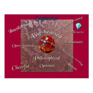 Carte de zodiaque de caractéristiques de