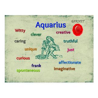 Carte de zodiaque de caractéristiques de Verseau