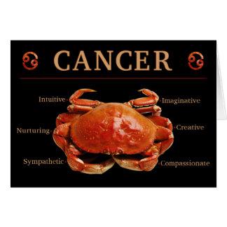 Carte de zodiaque de crabe de Cancer avec des