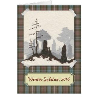 Carte debout de solstice/vacances de pierres
