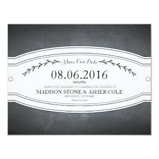 Carte d'Économie-le-Date d'insigne de tableau Carton D'invitation 10,79 Cm X 13,97 Cm