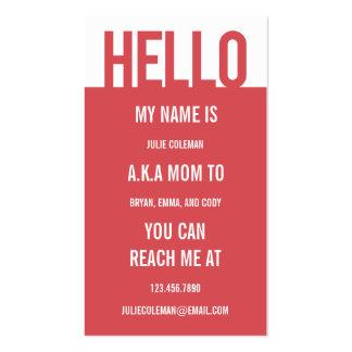 Carte décontractée/télécarte de maman de bonjour cartes de visite personnelles