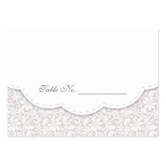 Carte décorative d'endroit de Tableau de mariage d Carte De Visite