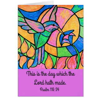 Carte d'écriture sainte de colibri