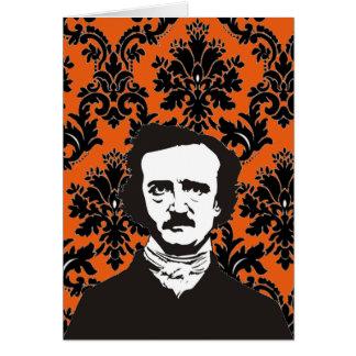 Carte d'Edgar Allan Poe - orange