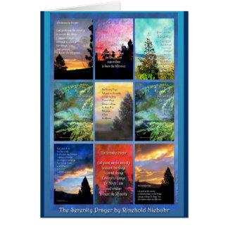 Carte d'édredon d'arbres de prière de sérénité