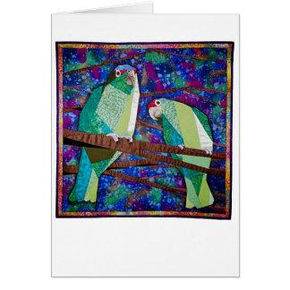 Carte d'édredon de perroquet
