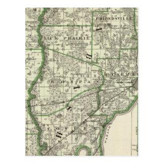 Carte d'Edwards et comtés et Albion de Wabash