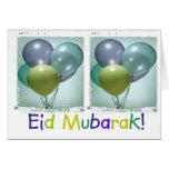 Carte d'Eid Mubarak des enfants colorés