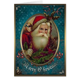Carte d'élégance de Noël - le père noël avec des