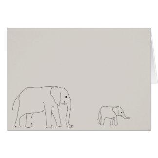 Carte d'éléphant