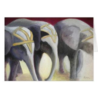 Carte d'éléphants de cirque