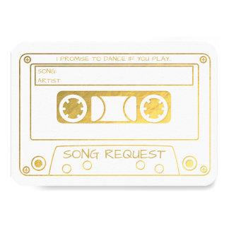 Carte Demande vintage de chanson d'enregistreur à