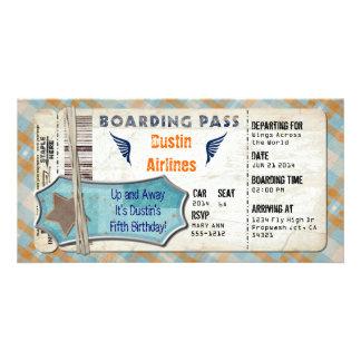 Carte d'embarquement de partie d'avions photocarte