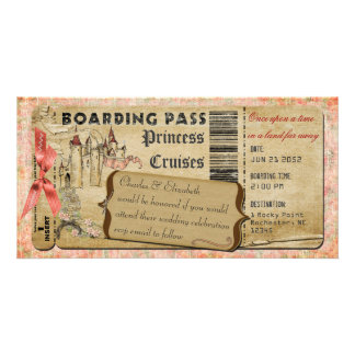 Carte d'embarquement de princesse Castle