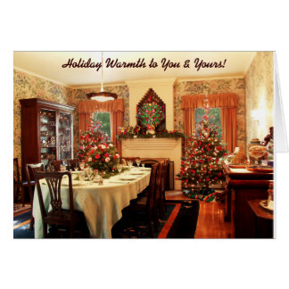 Carte démodée de dîner de Noël