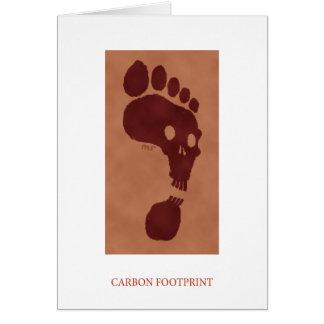 Carte d'empreinte de pas de carbone