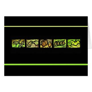 Carte d'en Taille Vert de Tierce