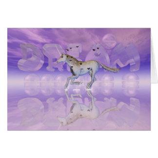 Carte d'encouragement, chasse de licorne votre