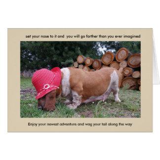 Carte d'encouragement de chien de basset