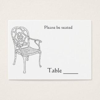 Carte d'endroit de collection de chaises
