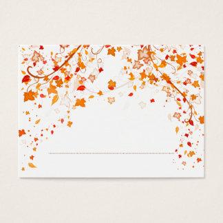 Carte d'endroit de mariage de feuillage d'automne