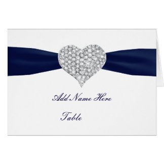 Carte d'endroit de Tableau de mariage de bleu