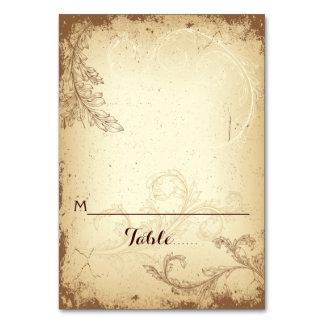 Carte d'endroit pliée par mariage beige vintage de