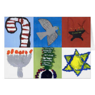 Carte d'enfant de kaléidoscope - vacances
