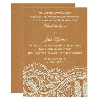 Carte Dentelle et mariage de papier d'emballage