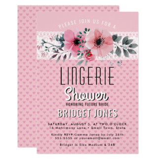 Carte Dentelle florale de coeurs de rose nuptiale de