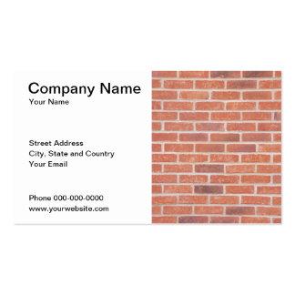 Carte d'entreprise de construction carte de visite standard