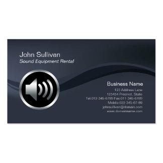 Carte d'entreprise de location de matériel son d'i cartes de visite personnelles