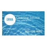 Carte d'entreprise de services de nettoyage de Cha Cartes De Visite Personnelles