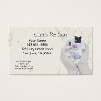 Carte d'entreprise de services de soin des animaux