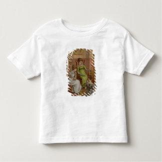 Carte dépeignant une scène de coin du feu t-shirt pour les tous petits
