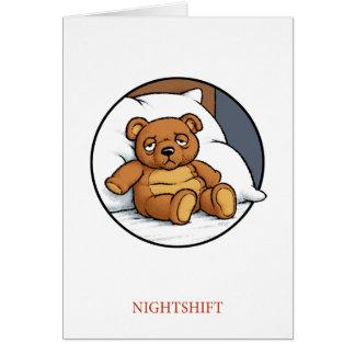 Carte d'équipe de nuit