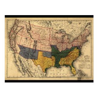 Carte d'ère de guerre civile des Etats-Unis