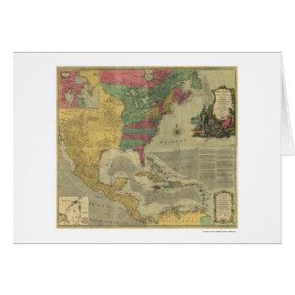 Carte des Antilles et de l'Amérique du Nord - 1774