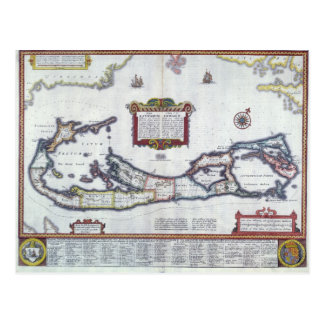 Carte des Bermudes Carte Postale