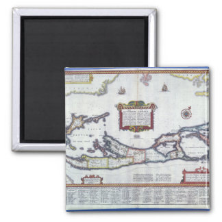 Carte des Bermudes Magnet Carré