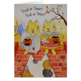 "Carte ""des bonbons ou un sort "" de Halloween"