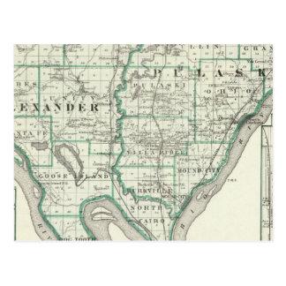 Carte des comtés d'Alexandre et de Pulaski