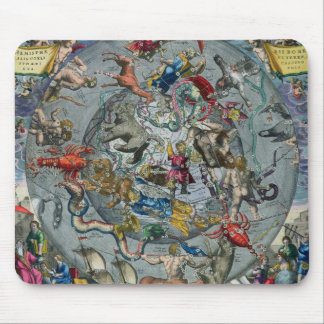 Carte des constellations du du nord tapis de souris